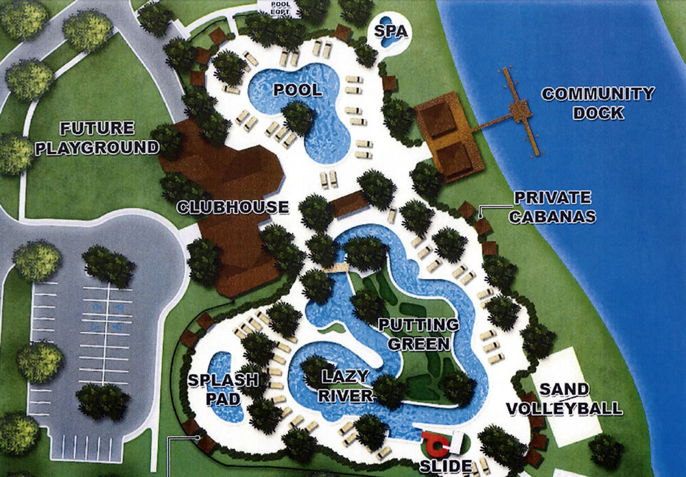 Storey Lake vacation homes resort amenities plan