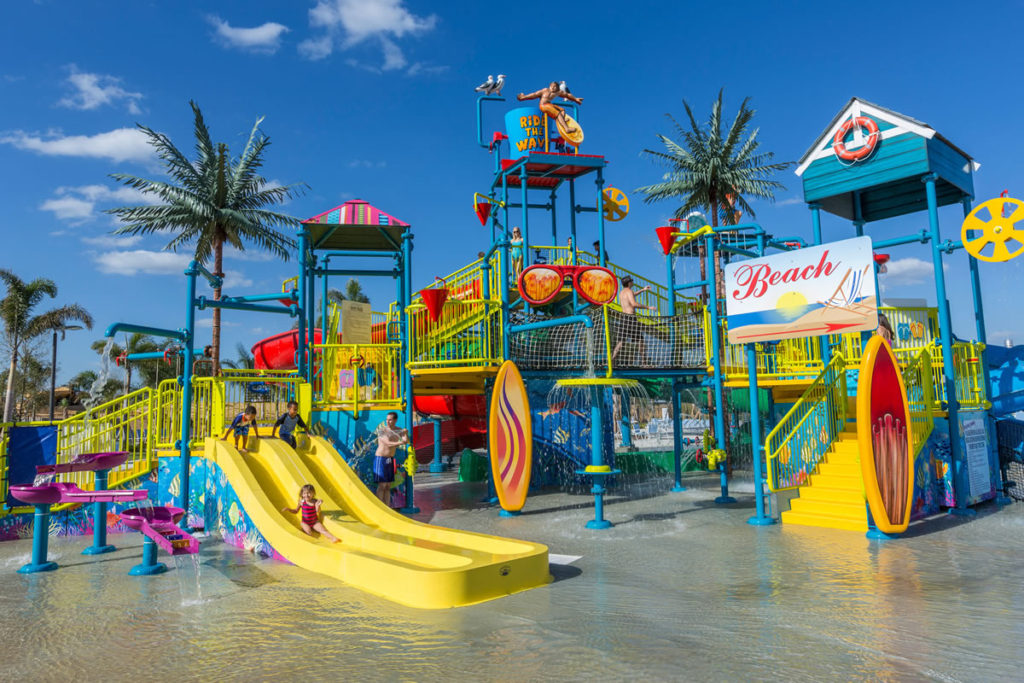 A busy waterpark at The Encore Club at Reunion Resort