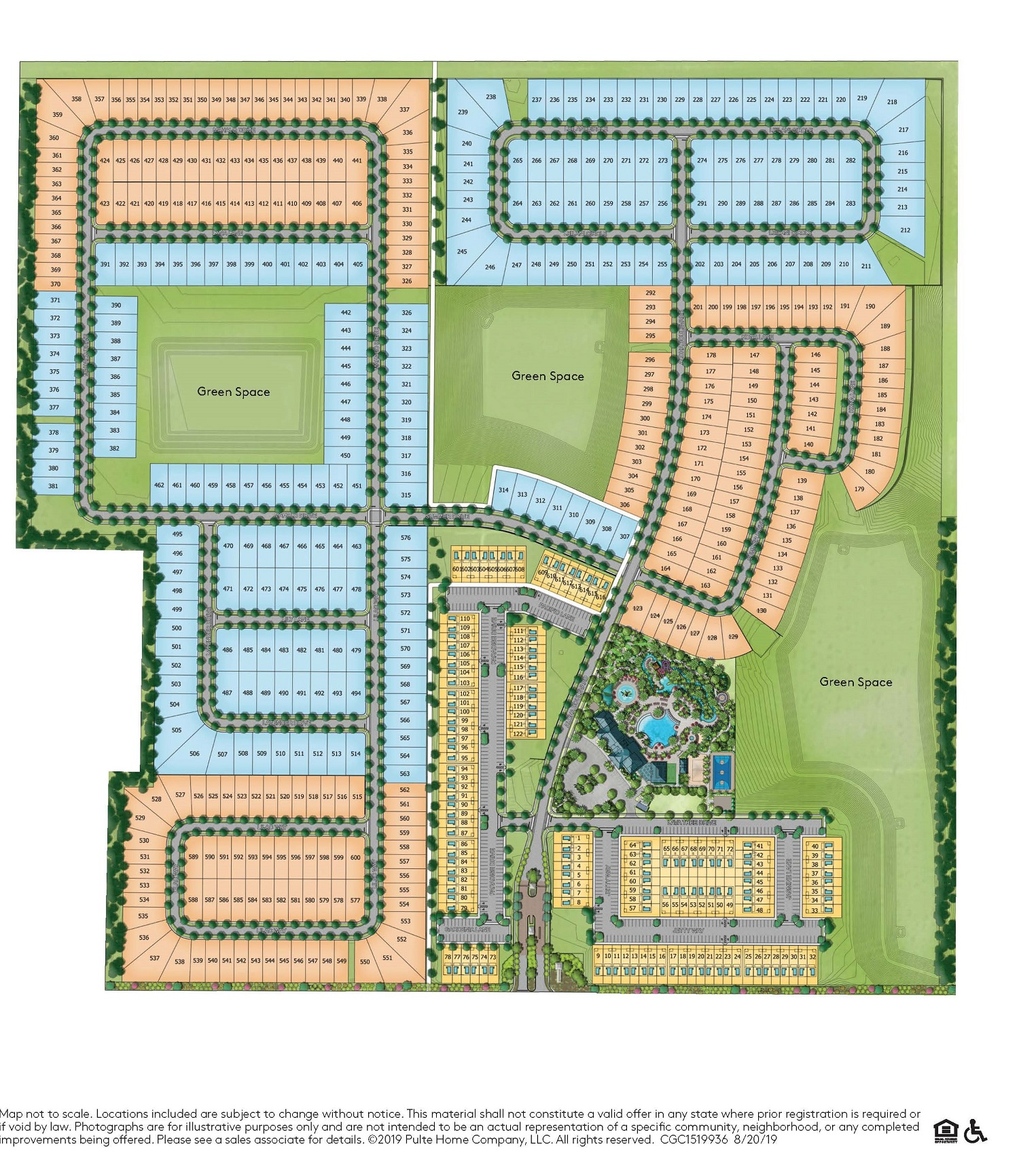 Windsor Island Resort siteplan. 600 stunning Disney vacation homes