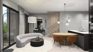 Modern townhomes for sale Orlando at The Hub at Westside